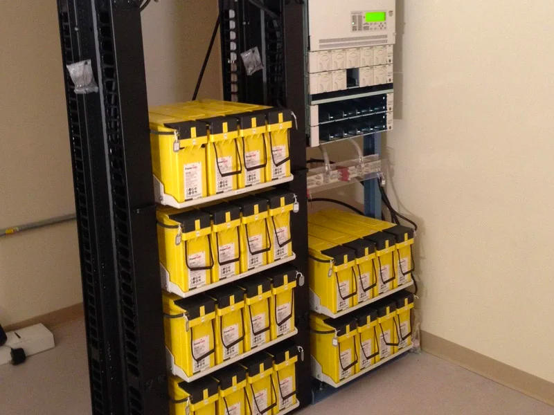 Telecom front access batteries